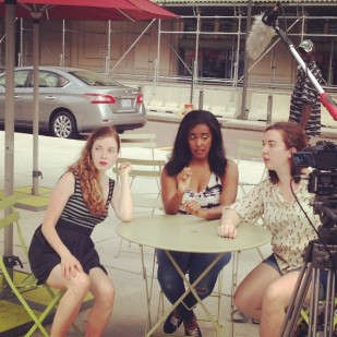 "Filming ""Sassy"" with ManiPedi (Photo: A. Williams)"